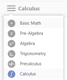 Mathway Calculus option