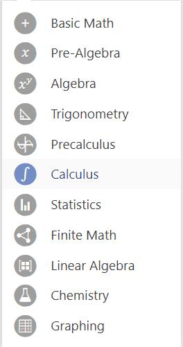 Mathway calculator topics